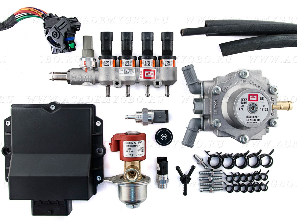 BRC P&D MY10 4 цил. >100 kW, <120 kW (оранжевые, G-MB1500), без фильтра