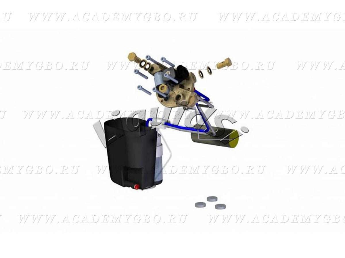 AC360: Топливный модуль под цилиндрический 30° <125 kW