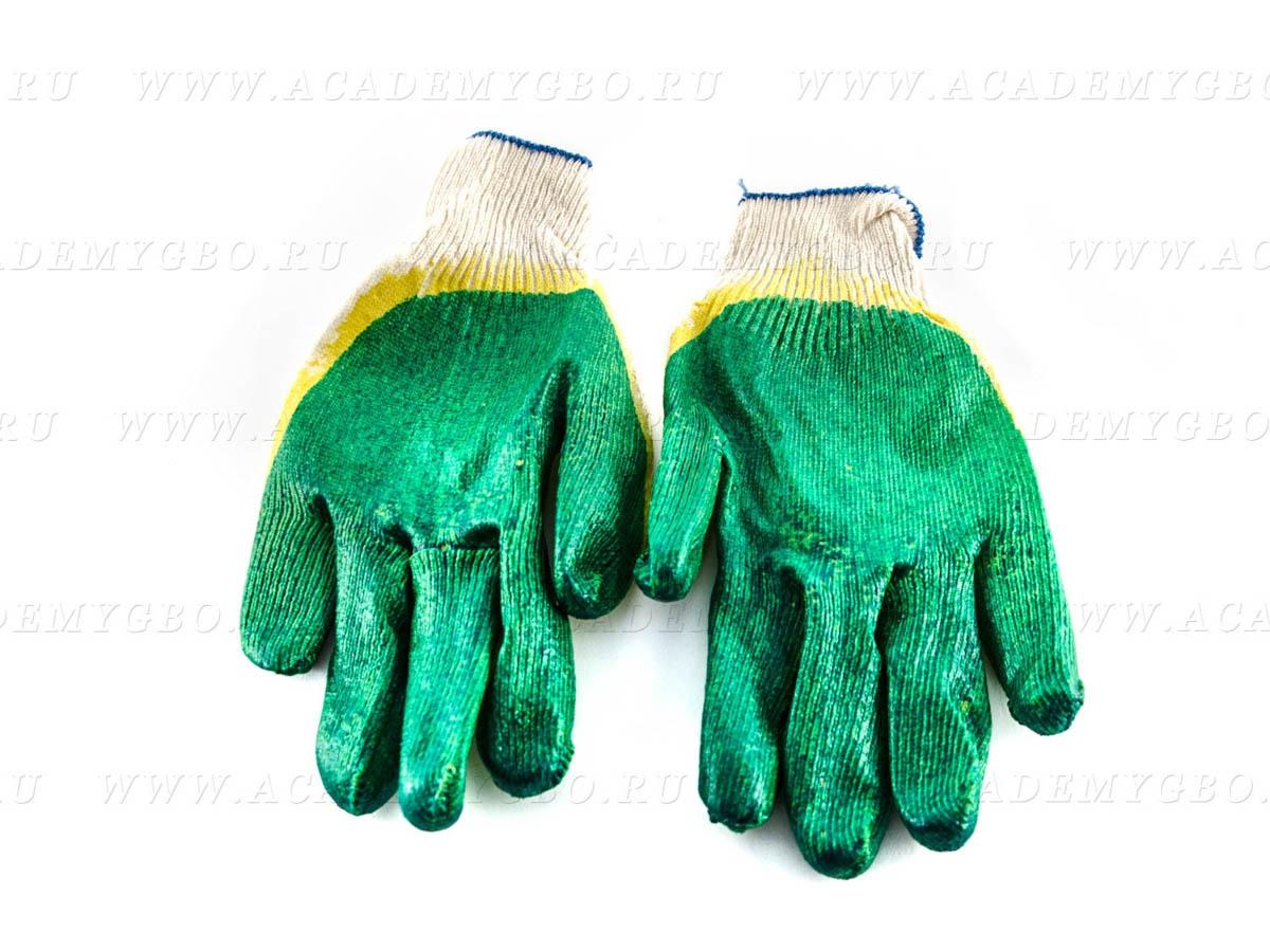 Перчатки обрезиненные