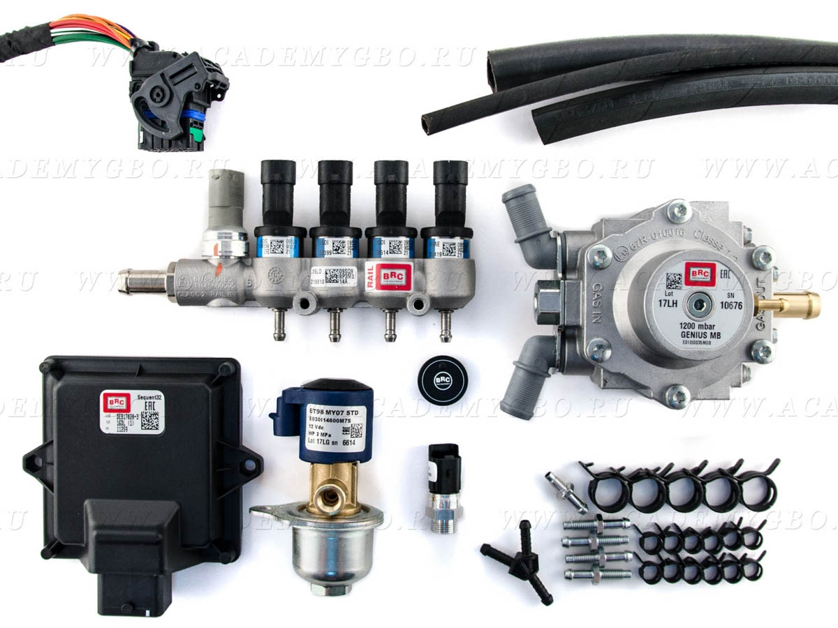 BRC Sequent 32 OBD kit, 4 цил. <80 kW (синие, G-МВ1200), без фильтра