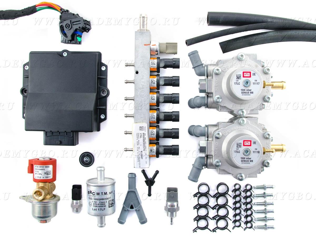 BRC P&D 6 цил. >140 kW, <165 kW (ряд. оранжевые, 2хG-МВ, ориг.фильтр)