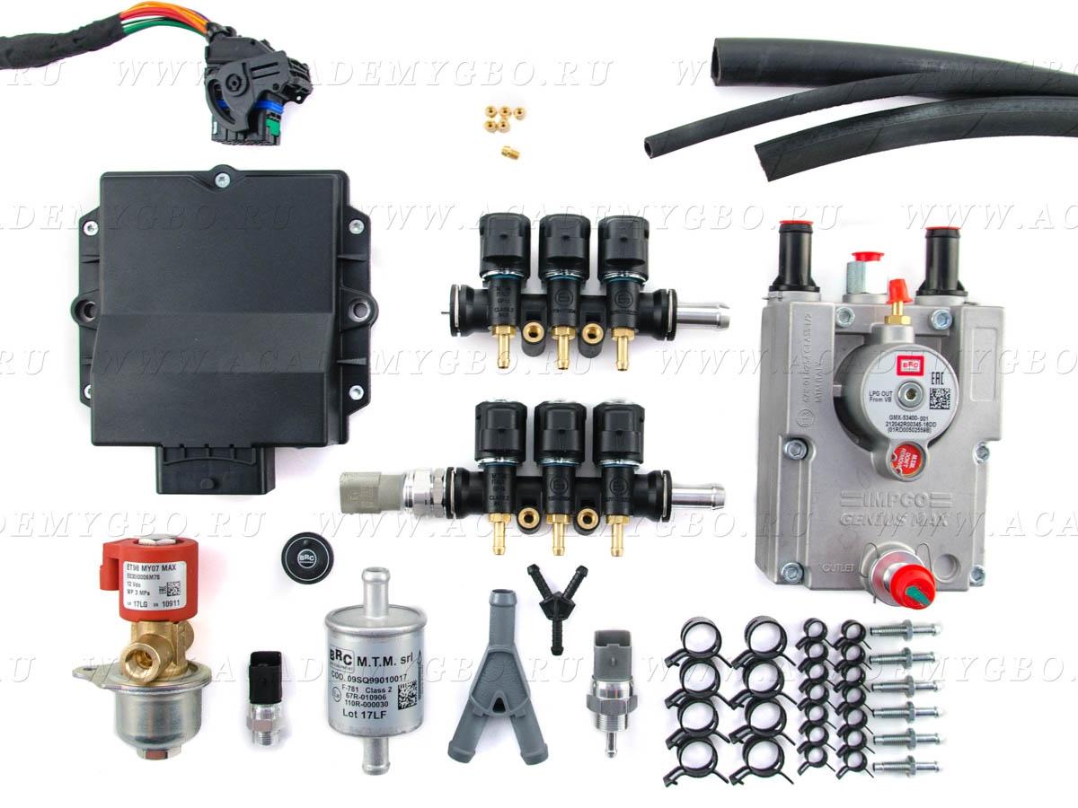 BRC ALBA PLUS 6 цил. >140 kW, <180 Kw (V, GP13 injectors, G-МАХ)