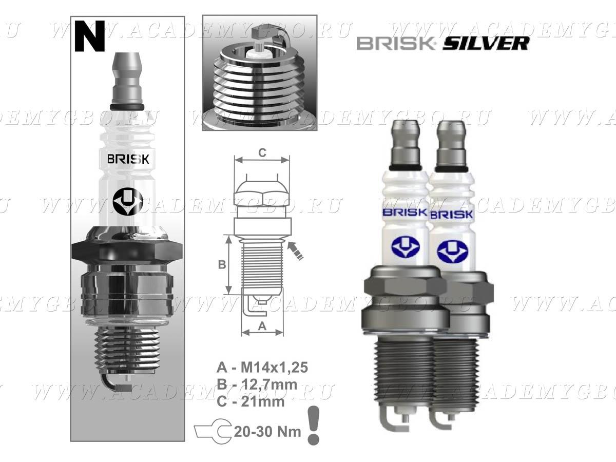 Свеча BRISK NR 15 S Silver (ГАЗ УАЗ ЗАЗ ЗИЛ)