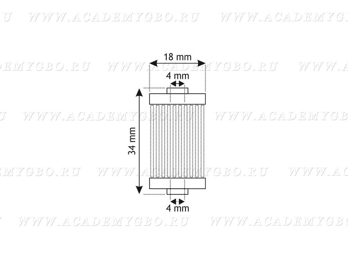 Фильтр Газового клапана Atiker 1203 (боковой) Voltran