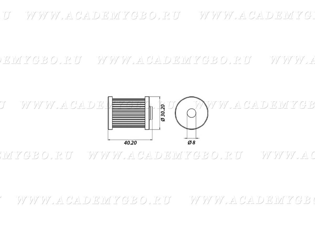 Фильтр клапана газа Atiker 12008 (нижний увеличенный)
