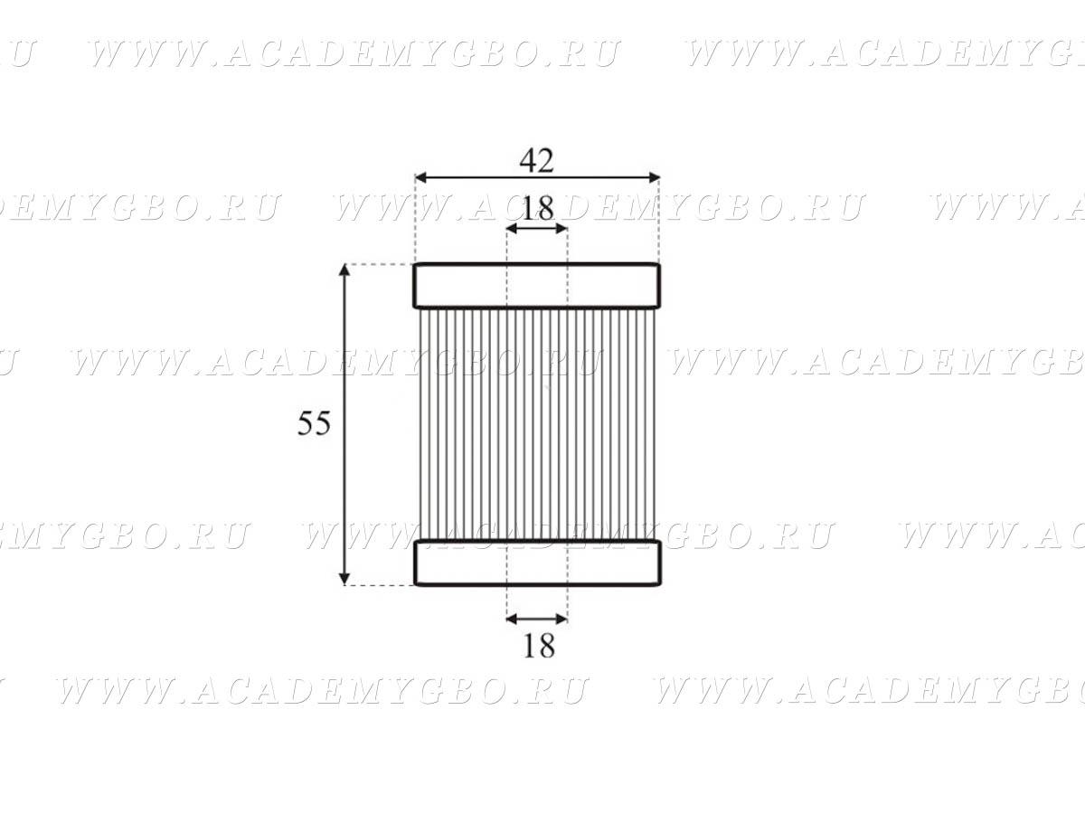 Картридж-фильтр паровой фазы LADA Vesta /MPF-10-01 /Valtek 97 (Glass fiber)