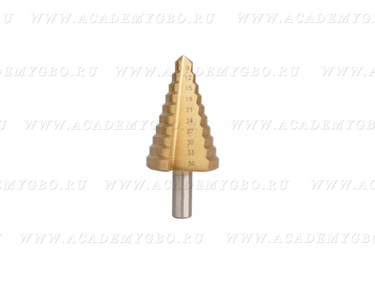 Сверло ступенчатое 9-36 мм по металлу шаг 2мм