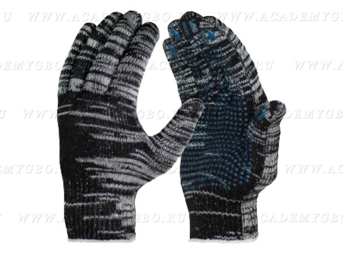 Перчатки 10 класс (6) с ПВХ графит